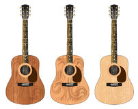 Three guitars with a pattern Stock Photo