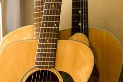 Three Guitars On The Wall Royalty Free Stock Image