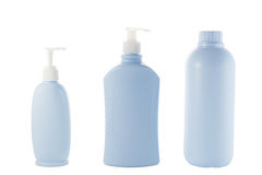 Hair and Skin care bottles Stock Photos
