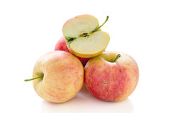 Three and a half apple. Royalty Free Stock Photos