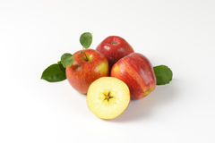 Three and half apples Stock Photography