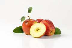 Three and half apples Stock Images