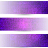 Three halftones banners Stock Image