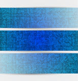 Three halftones banners Royalty Free Stock Image