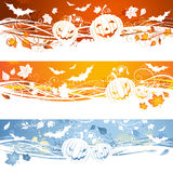 Three Halloween banners. Royalty Free Stock Images