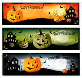 Three Halloween banners  Vector Stock Photos
