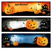Three Halloween banners  Vector Stock Images