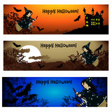 Three Halloween banners. Vector. Royalty Free Stock Images