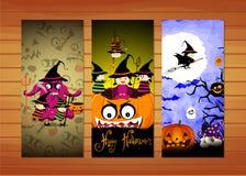 Three Halloween banners. Vector Stock Photo