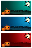 Three Halloween banners. Stock Photos