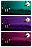 Three Halloween banners. Royalty Free Stock Photo