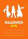 Three halloween children Stock Photography