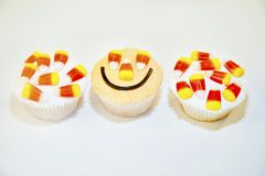 Three halloween cupcakes Royalty Free Stock Photo