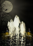 Three Halloween Ghosts royalty free stock images