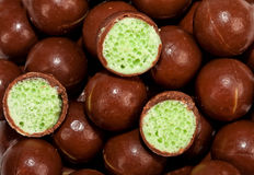 Three halve chocolate balls Royalty Free Stock Photo