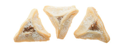 Three Hamentashen Stock Images