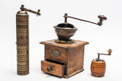 Three hand grinders Stock Photography