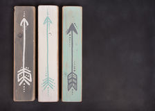 Three hand painted arrows on a blackboard Royalty Free Stock Photography