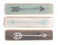 Three hand painted arrows Stock Images