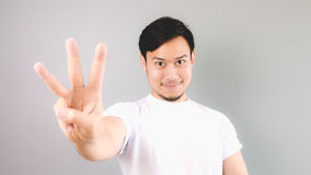 Three hand sign. Stock Photography