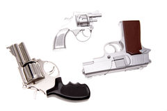 Three handguns Royalty Free Stock Photography