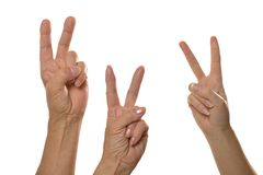 Three hands Fingers Royalty Free Stock Photo
