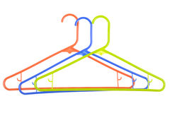 Colorful Set of Cloth Hangers Royalty Free Stock Photography