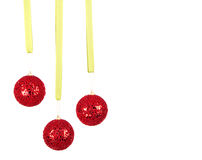 Three hanging Christmas or holiday ornaments Stock Photography