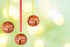 Three Hanging Christmas Or Holiday Ornaments Royalty Free Stock Photos