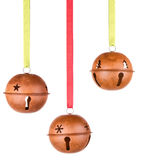 Three Hanging Christmas Or Holiday Ornaments Stock Image