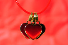 Three hanging hearts Royalty Free Stock Photo