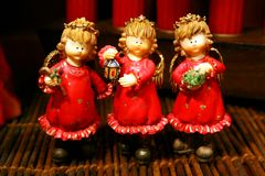 Three happy angels Stock Images