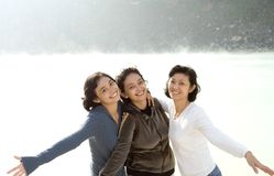 Three happy asian sisters Stock Photography