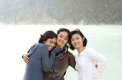 Three happy asian sisters Royalty Free Stock Photo