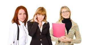 Three happy businesswomen Stock Photo