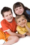 Three Happy Children Royalty Free Stock Photos