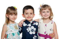Three happy children Stock Photos