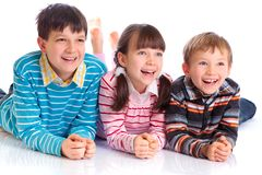 Three happy children Stock Image