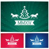 Three Happy christmas eve background with symbol c Stock Images