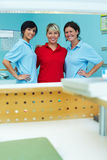 Three happy dental technicians Royalty Free Stock Photography