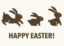 Three happy easter rabbit Royalty Free Stock Photography