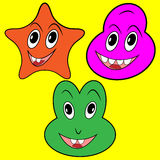 Three happy faces Royalty Free Stock Image