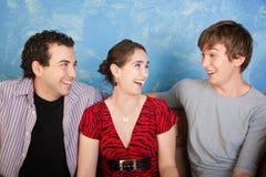 Three Happy Friends Royalty Free Stock Photo