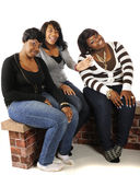 Three Happy Friends Royalty Free Stock Photography
