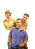 Three happy friends royalty free stock image