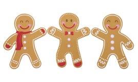 Happy ginger bread men stock photos
