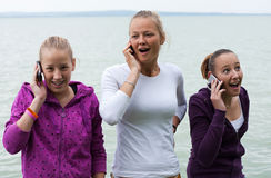 Three happy girls Stock Image