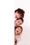 Three happy girls Royalty Free Stock Photography