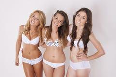 Three happy girls Royalty Free Stock Photo