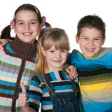 Three happy kids Stock Photos